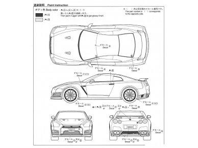 Aoshima - Nissan R35 GT-R pure edition 2014, Mastelis: 1/24, 05154 11