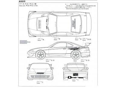 Aoshima - Nissan Top Secret S15 Silvia `99, Mastelis: 1/24, 05355 10