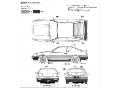 Aoshima - Toyota AE86 Corolla Levin GT-APEX `85, Mastelis: 1/24, 05225 11