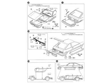 Aoshima - Toyota AE86 Corolla Levin GT-APEX `85, Mastelis: 1/24, 05225 18