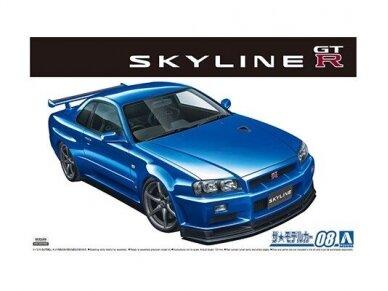 Aoshima - Nissan BNR34 Skyline GT-R V-Spec II '02, Mastelis: 1/24, 05858