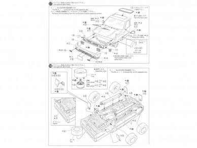 Aoshima - Toyota LN107 Hilux Pickup Double Cab 4WD '94, Mastelis: 1/24, 05228 13