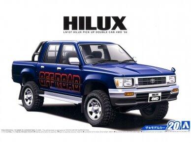 Aoshima - Toyota LN107 Hilux Pickup Double Cab 4WD '94, Mastelis: 1/24, 05228