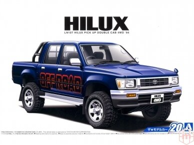 Aoshima - Toyota LN107 Hilux Pickup Double Cab 4WD '94, Scale: 1/24, 05228