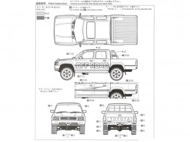 Aoshima - Toyota LN107 Hilux Pickup Double Cab 4WD '94, Scale: 1/24, 05228 8