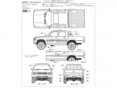 Aoshima - Toyota LN107 Hilux Pickup Double Cab 4WD '94, Scale: 1/24, 05228 8