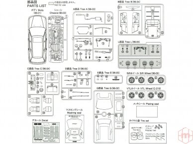 Aoshima - Honda CF2 Accord Wagon SiR/VTL '96, Mastelis: 1/24, 05573 7