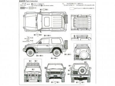 Aoshima - Mitsubishi V24WG Pajero Metal Top Wide XR-II '91, Mastelis: 1/24, 05697 7