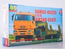 AVD - KAMAZ-65225 tractor truck with heavy semitrailer, 1/43, 7056
