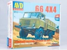 AVD - GAZ-66 4x4 flatbed truck, Mastelis: 1/43, 1384