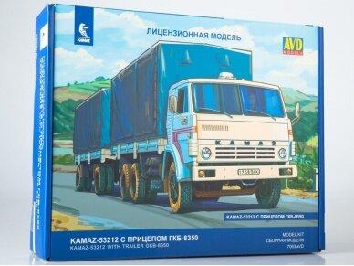 AVD - KAMAZ-53212 flatbed truck with trailer GKB-8350, Mastelis: 1/43, 7063