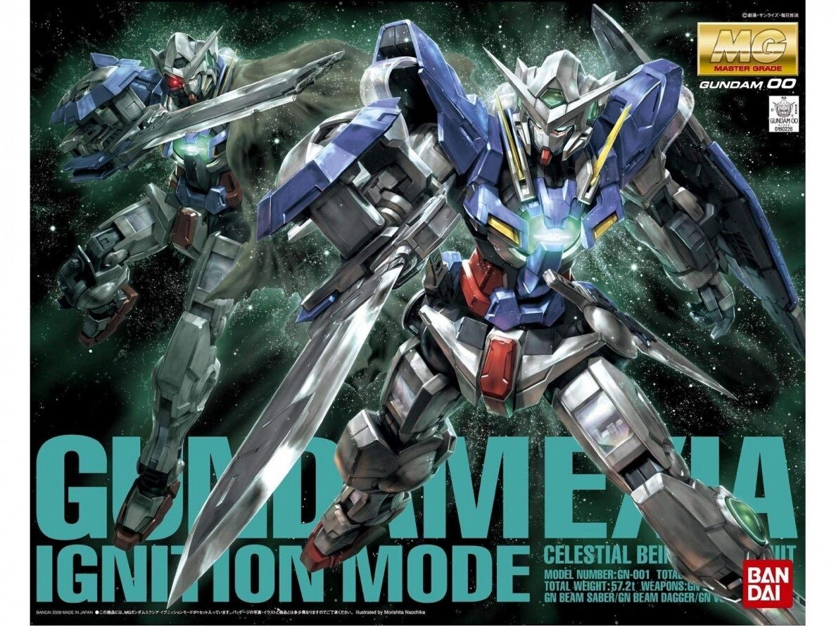 Bandai mg gundam exia ignition mode scale 1 100 61015 eshop modeliukai lt