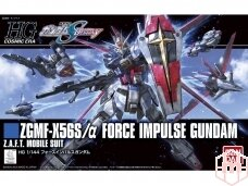 Bandai - HG Cosmic Era ZGMF-X56S/α Force Impulse Gundam Z.A.F.T. Mobile suit, Scale: 1/144, 06326