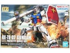 Bandai - HG RX-78-02 Gundam (Gundam The Origin Ver.), Mastelis: 1/144, 58929