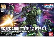 Bandai - HG The Origin MS-06C Zaku II Type C/ Type C-5, Mastelis: 1/144, 16745
