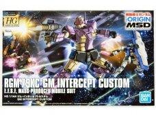 Bandai - HG The Origin MSD RGM-79KC GM Intercept Custom E.F.S.F. Mass-Produced Mobile Suit, 1/144, 55352