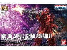 Bandai - HG Zaku I (Char Aznable`s), Mastelis: 1/144, 16379