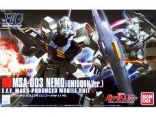 Bandai - HGUC MSA-003 Nemo (Unicorn Ver.), Mastelis: 1/144, 60665