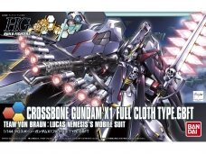 Bandai - HG Build Fighters Try Crossbone Gundam X1 Full Cloth TYPE.GBFT, Mastelis: 1/144, 57720