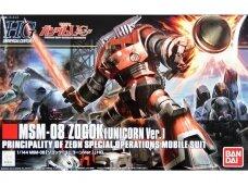 Bandai - HGUC Gundam Unicorn MSM-08 Zogok (Unicorn Ver.) Principality of Zeon Special Operations Mobile Suit, Scale: 1/144, 57984