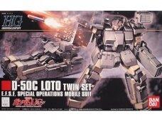 Bandai - HGUC Gundam Unicorn D-50C Loto Twin Set E.F.S.F. Special Operations Mobile Suit, 1/144, 59162