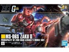 Bandai - HGUC MS-06S Zaku II, Mastelis: 1/144, 60453