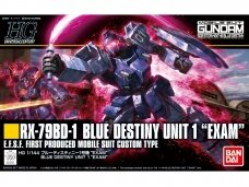 "Bandai - HGUC The Blue Destiny RX-79BD-1 Blue Destiny Unit 1 ""Exam"", Mastelis: 1/144, 16740"