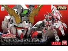 Bandai - RG Unicorn Gundam (Bande Dessinee Ver.), Scale: 1/144, 27473