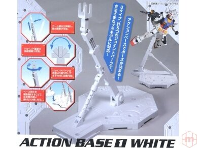 Bandai - Action Bazė 1 balta, 48217