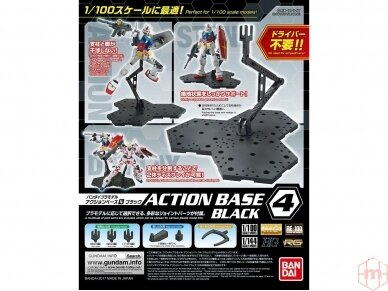 Bandai - Action Bazė 4 juoda, 23030
