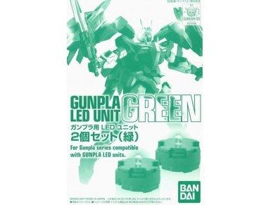 Bandai - Gunpla LED elementas, žalias  (2vnt kompl.), 73118