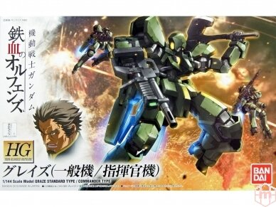 Bandai - HG Graze (Standard Type/Commander Type) Iron-Blooded Orphans, Mastelis: 1/144, 60382