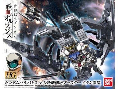 Bandai - HG Gundam Barbatos & Long Distance Transport Booster Kutan San Model, Scale: 1/144, 01891