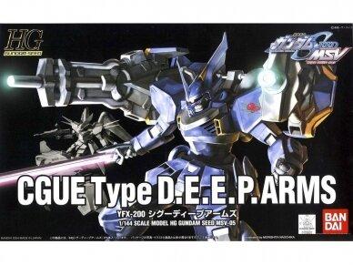 Bandai - HG Gundam Seed MSV YFX-200 Cgue Type D.E.E.P.Arms, Mastelis: 1/144, 56812