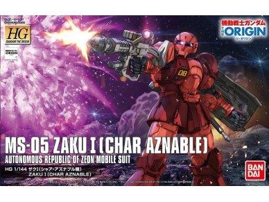 Bandai - HG Zaku I (Char Aznable`s), Mastelis: 1/144, 57737
