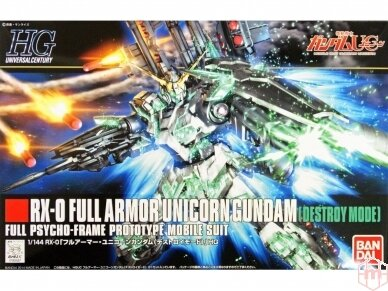 Bandai - HGUC Full Armor Unicorn Gundam (Destroy Mode), Scale: 1/144, 58005