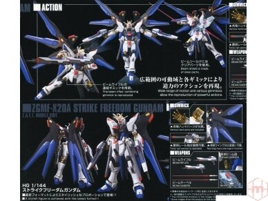 Bandai - HGCE Strike Freedom Gundam, Mastelis: 1/144, 55610 9