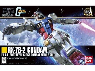 Bandai - HGUC RX-78-2 Gundam, Mastelis: 1/144, 96716