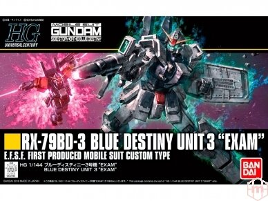 "Bandai - HGUC RX-79BD-3 Blue Destiny Unit 3 ""Exam"", Mastelis: 1/144, 22262"