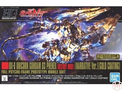 Bandai - HGUC Unicorn Gundam 03 Phenex, Mastelis: 1/144, 55342