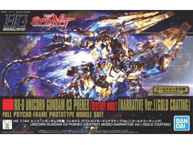 Bandai - HGUC Unicorn Gundam 03 Phenex, Scale: 1/144, 55342