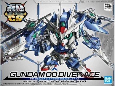 Bandai - SD Gundam Cross Silhouette Gundam 00 Diver Ace, 55343