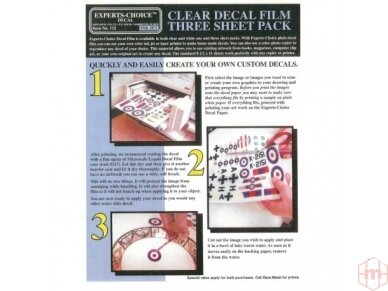 Bare Metal Foil - Clear inkjet decal film, 122