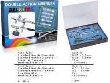 BelKits - Gravity Feed + Suction Feed Airbrush -  Double Action Airbrush set BEL-AIR003