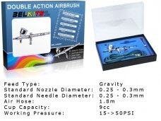 BelKits - Gravity Feed - Double Action aerografas BEL-AIR002