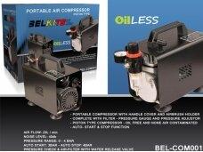 BelKits - Portable Air Compressor for Airbrush BEL-COM001