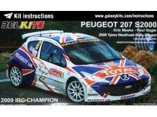 Belkits - PEUGEOT 207 S2000, Scale:1/24, BEL001