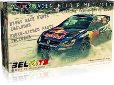 Belkits - Volkswagen Polo R WRC 2015 Winner Rallye Automobile de Monte-Carlo 2015, Scale:1/24, BEL010