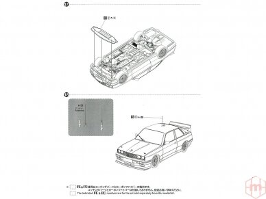 Beemax - 1992 BMW M3 E30, Mastelis: 1/24, B24019, 10630 20