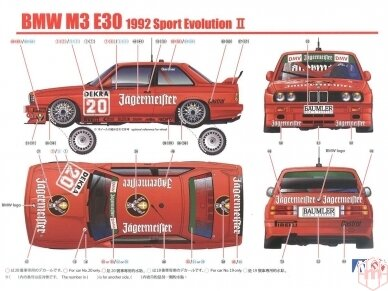 Beemax - 1992 BMW M3 E30, Mastelis: 1/24, B24019, 10630 10